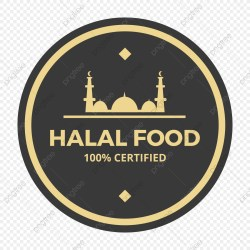 Circle Halal Food Logo Label Icon Food Icons Logo Icons Circle Icons PNG and Vector with Transparent Background for Free Download