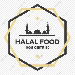 Hexagon Halal Food Icon Food Icons Halal Label PNG and Vector with Transparent Background for Free Download