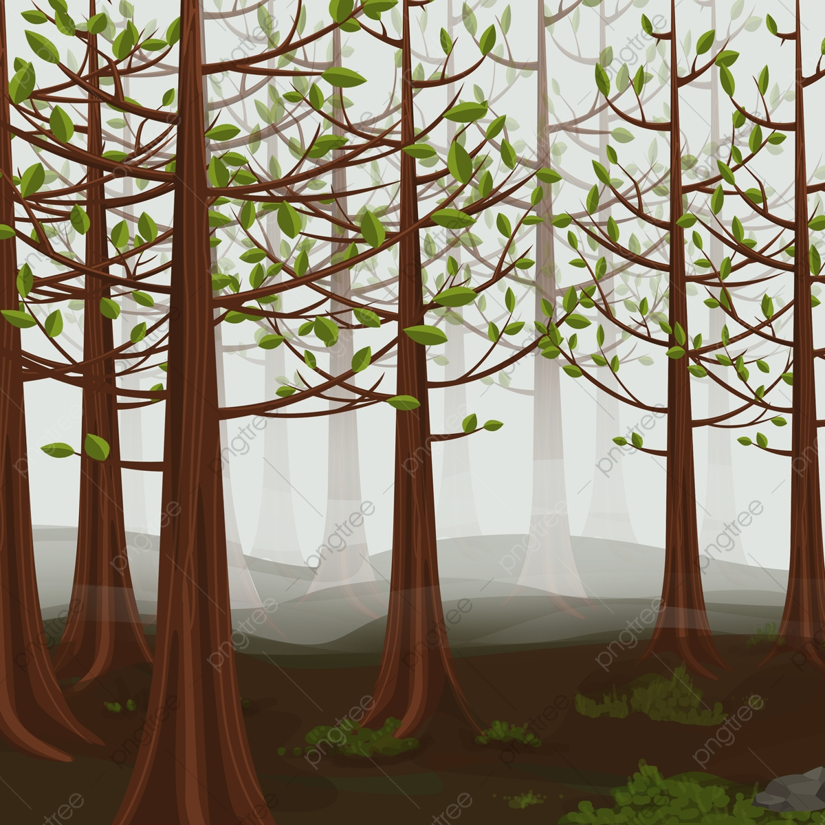 Deep forest vector clip art. Forest Clipart Png Images Vector And Psd Files Free Download On Pngtree