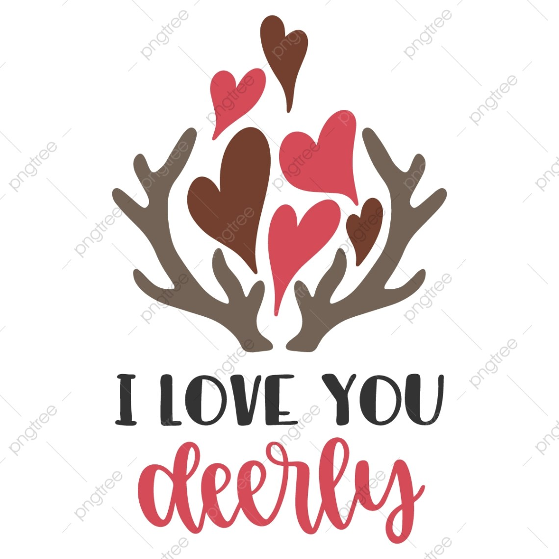 Download I Love You Dearly Typography Quotes, Heart, Love, Design ...