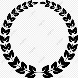Black Leaf Round Circle Leaf Black Round PNG and Vector with Transparent Background for Free Download