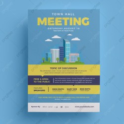 Town Hall Meeting Flyer Template Template Download on Pngtree