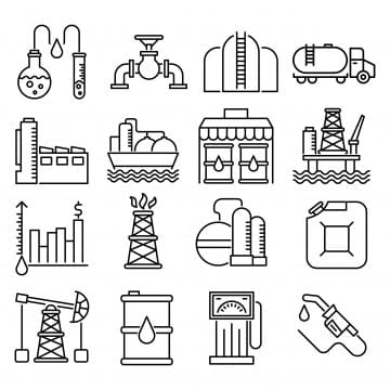 Oil Rig Icon Cartoon Style, Oil, Gas, Tower PNG and Vector