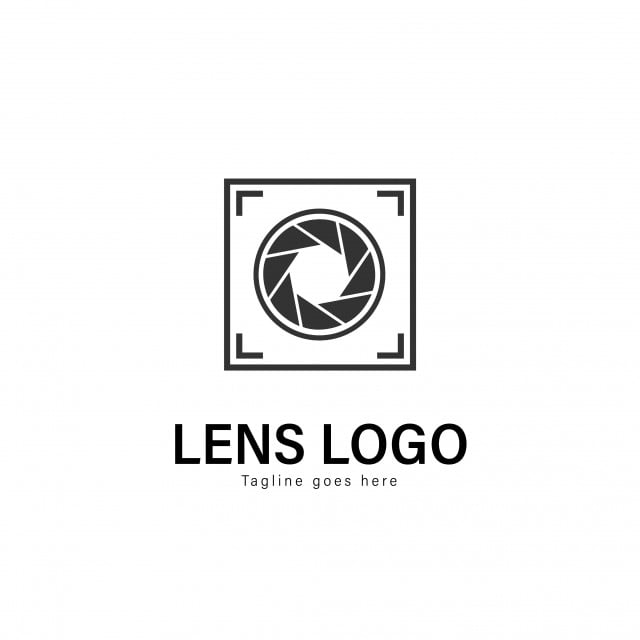 Lens Logo Template Design Lens Logo With Modern Frame