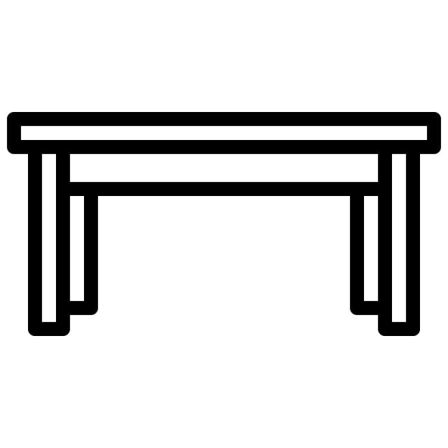 Table Icon With Outline Style Vector Eps10 Illustration. Icon. Vector. Illustration PNG and Vector with Transparent Background for Free Download