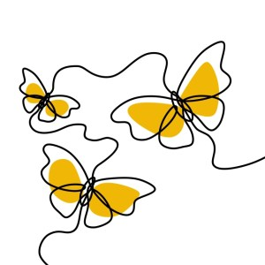 butterfly line simple drawing vector minimalist illustration continuous decorative easy drawings butterflies basic pngtree draw sketch lines illustrator background