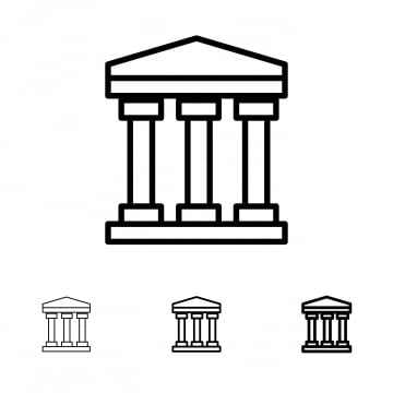 Bank Management Black Line Icon 25 Business Outline Icon