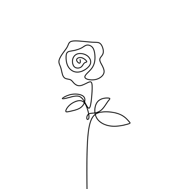 One Line Rose Flower Minimalism Drawing Vector Illustration Floral Art Design Vector Illustration Drawing Png And Vector With Transparent Background For Free Download