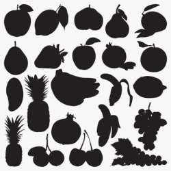 Fruit Silhouette PNG Images Vector and PSD Files Free Download on Pngtree