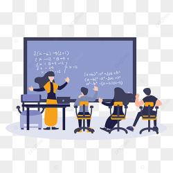 Flat Cartoon Illustration Students And Teacher Learning And Study Education Concept Back To School Clipart Study Education PNG and Vector with Transparent Background for Free Download
