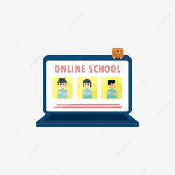 Online School Laptop Desktop Cartoon Illustration School Clipart Desktop Icons Laptop Icons PNG and Vector with Transparent Background for Free Download