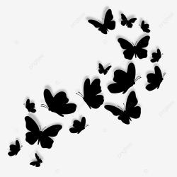 Black Butterfly Wings Silhouette Decoration Butterfly Clipart Butterfly Wing PNG and Vector with Transparent Background for Free Download