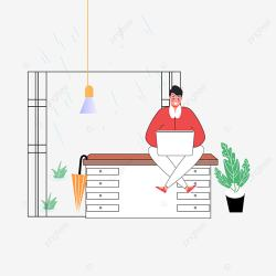 Hand Drawn Cartoon Restaurant Raining Outside Illustration Plant Blister Green PNG and Vector with Transparent Background for Free Download