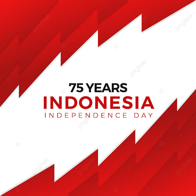 75 Years Of Indonesia Independence Day Greeting Design For Country Design Symbol Png And Vector With Transparent Background For Free Download