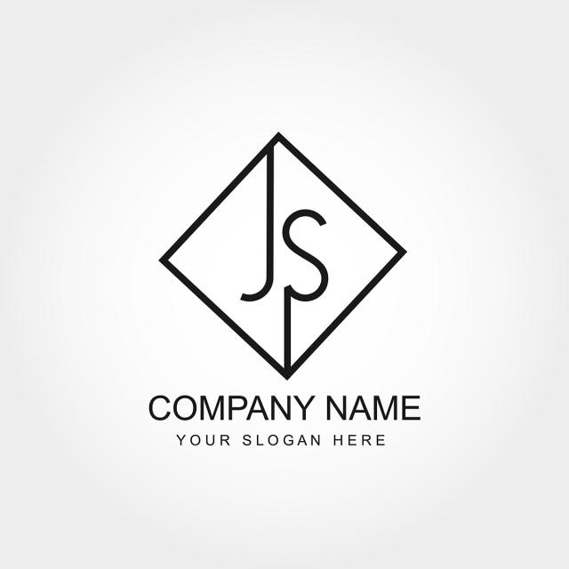 Initial Letter JS Logo Design Template for Free Download