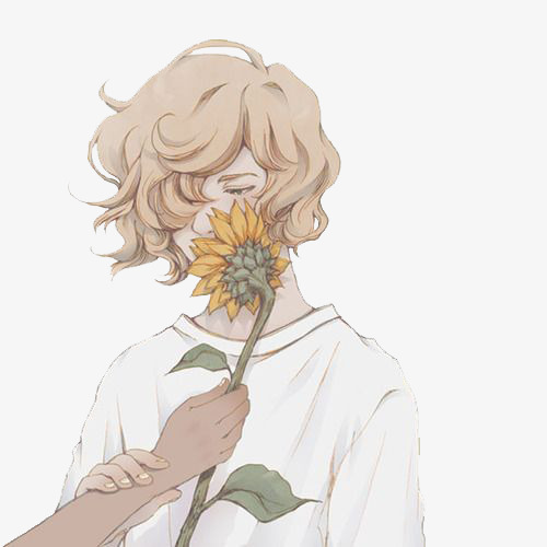 Make your device cooler and more beautiful. Boy Holding Sunflower, Plant, Flower, Boy PNG Transparent