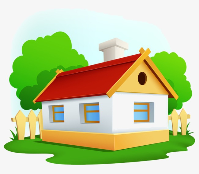 Cartoon House Cartoon Clipart Room House PNG