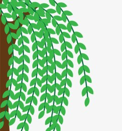 half of the willow decorated willow hand painted cartoon png image and clipart [ 650 x 1220 Pixel ]