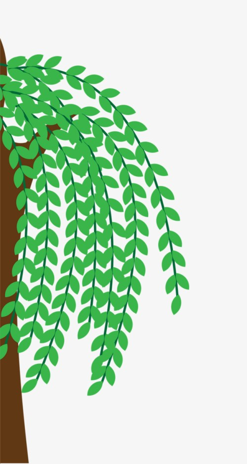 small resolution of half of the willow decorated willow hand painted cartoon png image and clipart