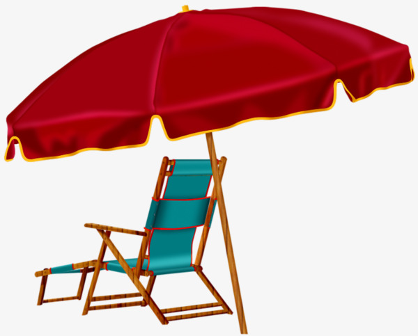 beach chair and umbrella clipart sleeper chairs ikea red png image