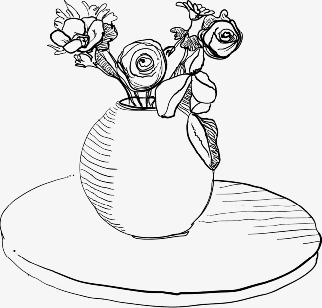 Vector Vase, Flowers, Vase, Table PNG and Vector with
