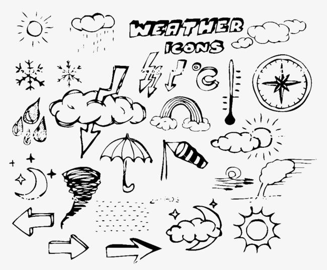 Weather Forecast Cute Stick Figure, Weather Clipart, Cute