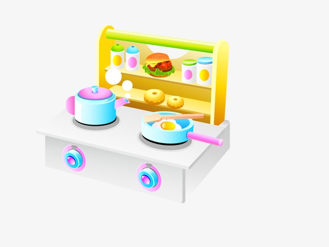 childrens toy kitchen french country chairs yellow children s toys clipart saucepan png image and