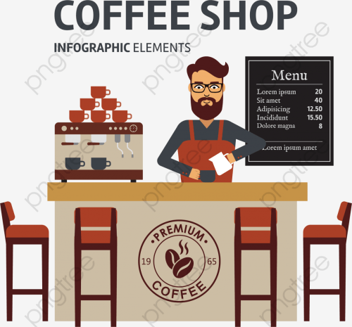 small resolution of coffee shop vector png clipart