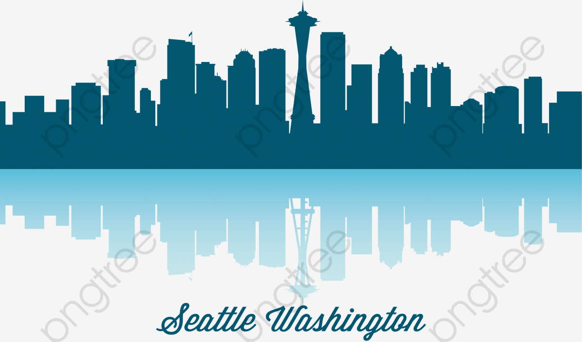 hight resolution of seattle skyline vector diagram png clipart
