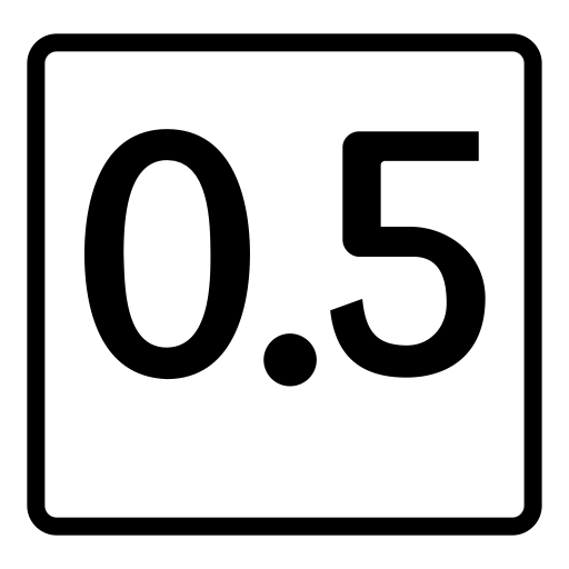 Decimal, Decimal Fraction, Digit Icon With PNG and Vector