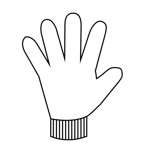 Icon Making Template, Glove, Kitchen Icon With PNG and