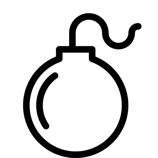 Bomb, Explosion, Nuclear Icon With PNG and Vector Format