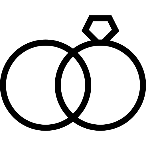 Wedding Ring Icon With PNG and Vector Format for Free