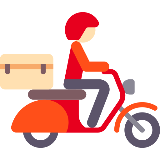 motorcycle scooter transport icon