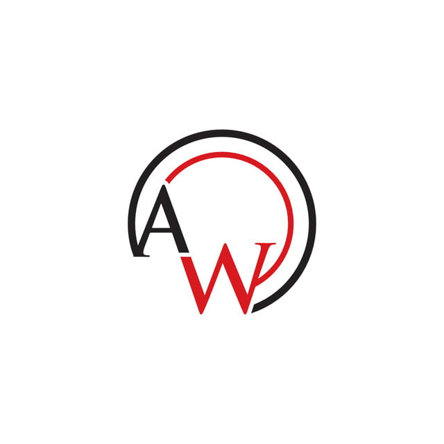 Aw Letter Logo Template for Free Download on Pngtree