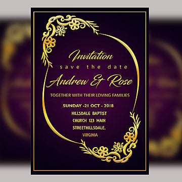 wedding invitation png images vector
