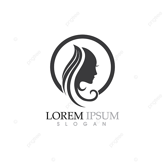 Beauty Women Face Silhouette Character Logo Template for
