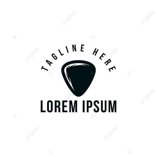Guitar Pick Musical Logo Template for Free Download on Pngtree