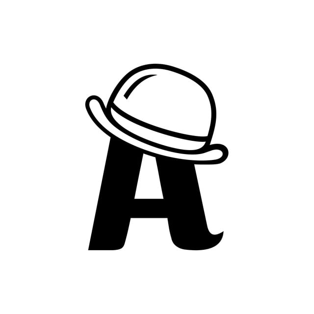 Illustration Of Letter A With A Cool Hat On It Template