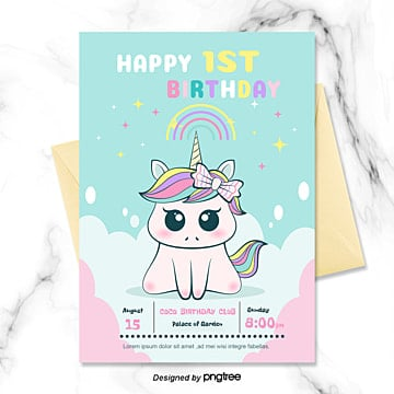 unicorn templates psd design for free