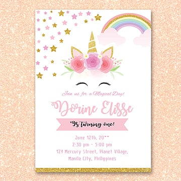 birthday invitation png vector psd