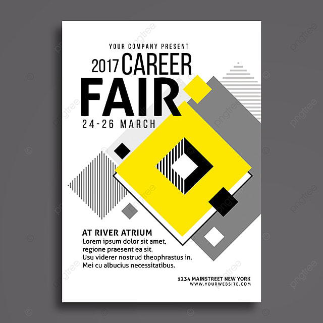 Career Fair Flyer Template For Free Download On Pngtree