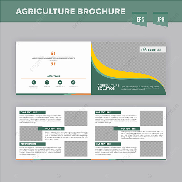 Modren Agriculture Brochure Design Template Template For