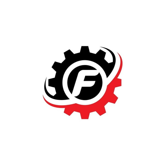 Letter F Gear Logo Design Template Template for Free