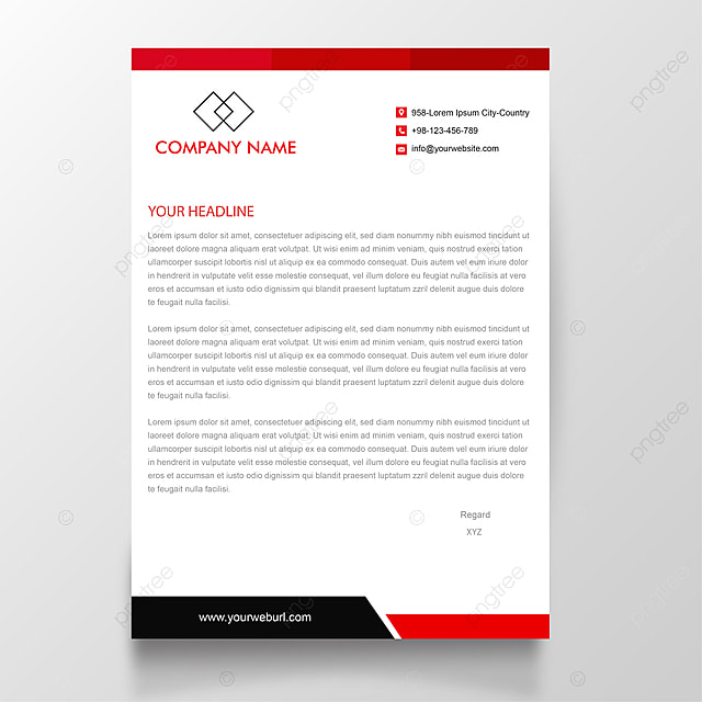 download business letterhead template free