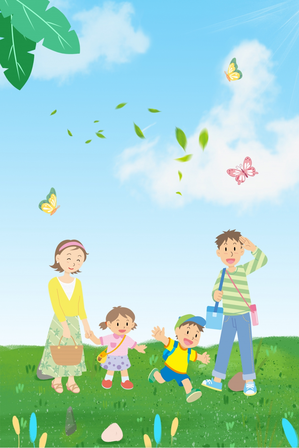 Happy Family To Travel Happy Family Travel Family Background Image For Free Download