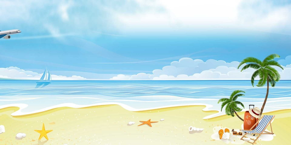 Vector Fantasy Summer Poster Vacation Background Dream Sunlight Illumination Background Image For Free Download