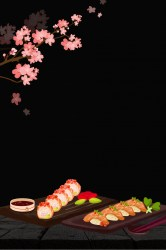 background sushi poster japanese delicious cuisine psd resolution format pngtree