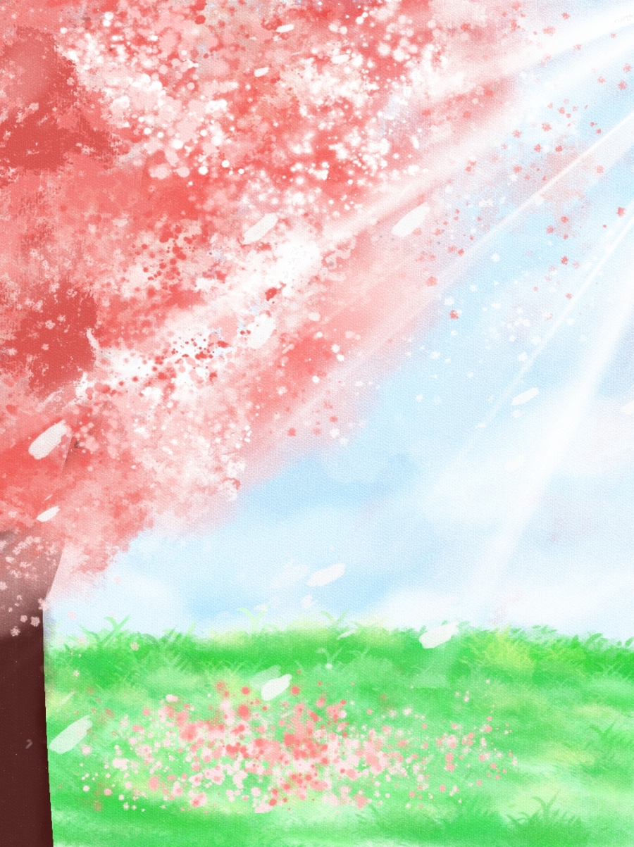 Anime Background Pictures : anime, background, pictures, Cherry, Blossom, Background, Anime, Wallpaper, Download,, April, There, Gongsheng,, Gongyuan, Image, Download