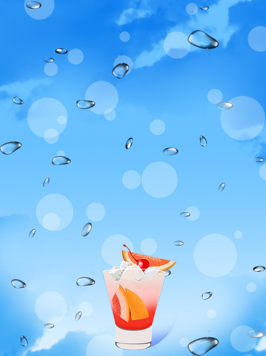 Banner Jus Buah : banner, Fresh, Juice,, Cube,, Teahouse, Background, Image, Download